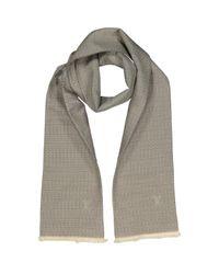 Echarpe en soie Louis Vuitton pour homme en coloris Gray
