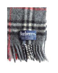 Sciarpa in lana grigio di Burberry in Gray