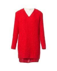 Robe en Laine Rouge Acne en coloris Red