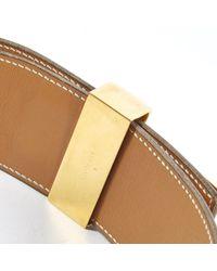 Cinturón en cuero camel Collier de chien Hermès de color Brown
