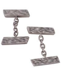Hermès Silber Manschettenknöpfe in Metallic für Herren