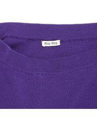 Miu Miu \n Purple Wool Skirt