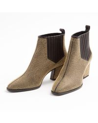 Roger Vivier Black Leather Ankle Boots