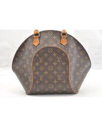 Sac à main Ellipse en Toile Marron Louis Vuitton en coloris Brown