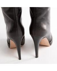 Gianvito Rossi \n Black Leather Boots