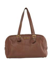 Miu Miu Brown Leather Hand Bag