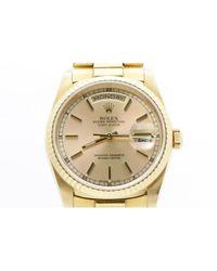Rolex Day Date 36mm Gelbgold Uhren in Metallic für Herren