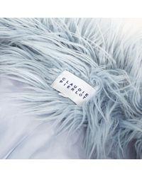 Claudie Pierlot Blue Jacke Synthetik Blau