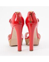 Miu Miu \n Red Patent Leather Sandals