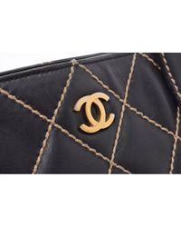 Chanel Black Leder Shopper