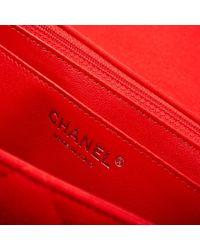 Chanel Red Timeless/classique Leinen Cross Body Tashe