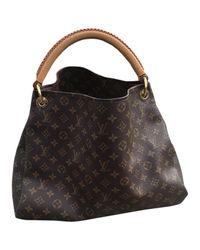 Louis Vuitton Black Artsy Leinen Handtaschen
