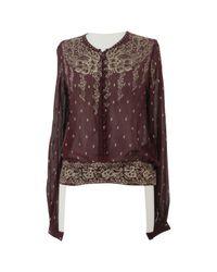 Étoile Isabel Marant Brown Silk Blouse