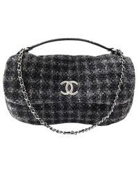 Chanel Black Tweed Crossbody Bag