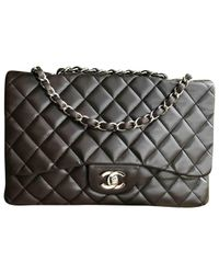 Chanel Brown Timeless Leather Crossbody Bag