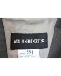 Ann Demeulemeester Black Kurze Jacke