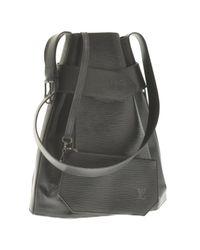 Louis Vuitton Black Sac D'épaule Leder Handtaschen