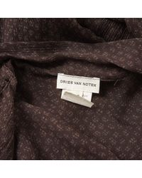 Dries Van Noten Brown Silk Dress
