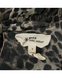 Étoile Isabel Marant Gray Anthracite Silk Top