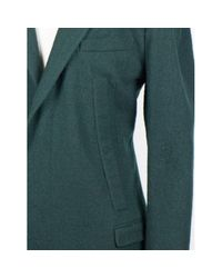 Cappotto in lana verde di Lanvin in Green da Uomo