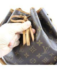 Borsa a mano in tela marrone Noé di Louis Vuitton in Brown