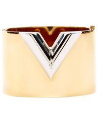 Pulsera en metal dorado Essential V Louis Vuitton de color Multicolor