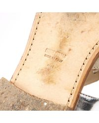 Miu Miu \n White Leather Sandals