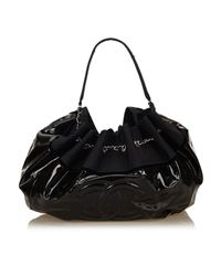Bolsa de mano en sintético negro Chanel de color Black
