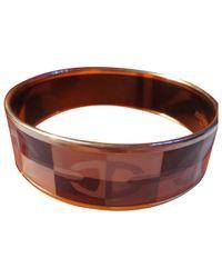 Hermès - Brown Enamel Bracelet - Lyst