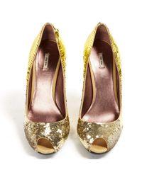 Miu Miu Metallic Gold Heels