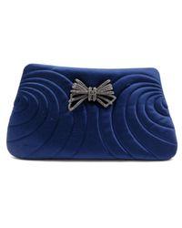 Chanel Blue Leinen Clutches
