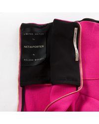 Roland Mouret Pink Wool Dress