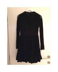 Maje Black Viscose Dress