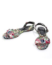 Roger Vivier Multicolor Cloth Sandals