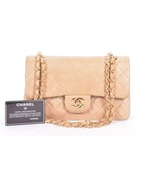 Chanel Natural Timeless/classique Leder Cross Body Tashe