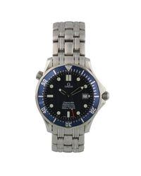 Reloj en acero Seamaster Omega de hombre de color Multicolor