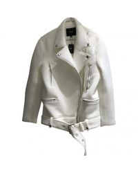 Maje Pre-owned White Synthetic Jackets