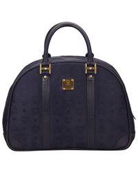 MCM Blue Leinen Handtaschen