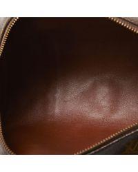 Borsa a mano in tela marrone Papillon di Louis Vuitton in Brown
