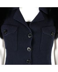 Dior Blue Wolle Kurze Jacke