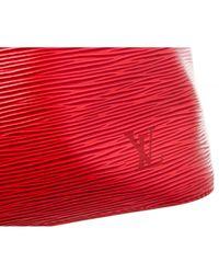Louis Vuitton Red Noé Leder Handtaschen