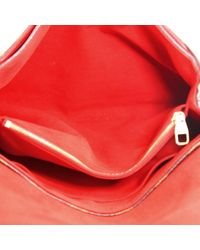 Bolsa de mano en lona rojo Pallas Louis Vuitton de color Red