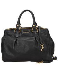 Miu Miu Black Leder Handtaschen