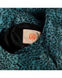 Matthew Williamson Blue Leinen Midi Kleid