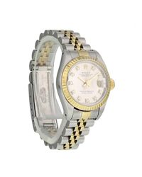 Orologio in oro e acciaio Lady DateJust 26mm di Rolex in Metallic