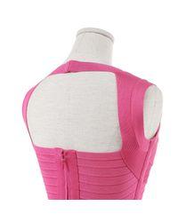 Hervé Léger Pink Midi Kleid