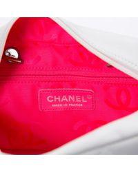 Chanel White Leder Handtaschen