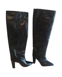 Stivali Lokyo in Pelle di Isabel Marant in Black