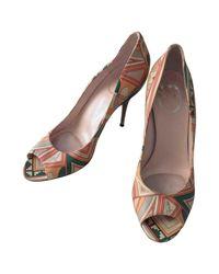 Emilio Pucci Brown Leather Sandals