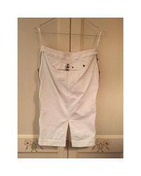 Roberto Cavalli White Cotton Skirt
